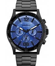 Caravelle New York 45A106 Mens Logan Black Steel Chronograph Watch