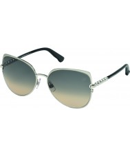 Swarovski Ladies Silver SK0066 Drew Sunglasses