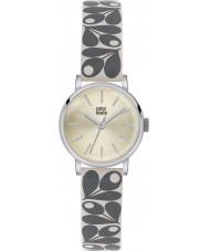 Orla Kiely OK2043 Ladies Patricia Cream Acorn Print Leather Strap Watch
