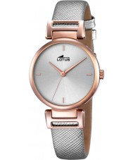 Lotus 18229-1 Ladies Trendy Grey Leather Strap Watch