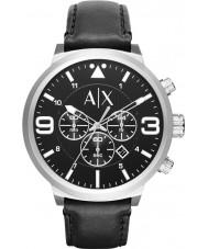 Armani Exchange AX1371 Mens Urban Black Leather Strap Chronograph Watch