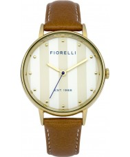 Fiorelli FO017TG Ladies Brown Leather Strap Watch