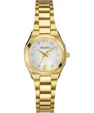 Bulova 97S109 Ladies Diamond Gold Plated Bracelet Watch
