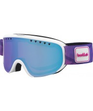 Bolle 21475 Scarlett Matte White and Purple - Aurora Ski Goggles