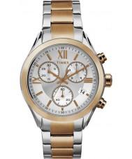 Timex TW2P93800 Ladies City Miami Two Tone Steel Bracelet Chronograph Watch