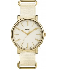Timex Originals TW2P88800 Tonal Cream Nylon Strap Watch