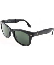 RayBan RB4105 50 Folding Wayfarer Matte Black 601S Sunglasses