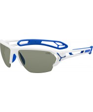 Cebe S-Track Large Shiny White Sunglasses
