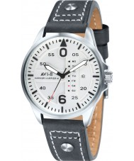 AVI-8 AV-4003-01 Mens Hawker Harrier II Black Leather Strap Watch