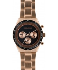 Zadig and Voltaire ZVM128 Master Rose Gold Plated Chronograph Watch