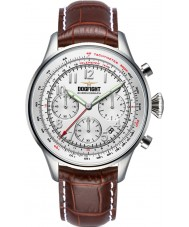 Dogfight DF0034 Mens Wingman Brown Leather Chronograph Watch