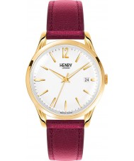 Henry London HL39-S-0064 Ladies Holborn White Burgundy Watch