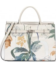 Fiorelli FH8639-PRINT Ladies Harlow White Botanical Print Tote Bag