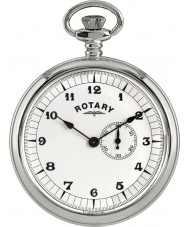 Rotary MP00730-18 Mens Pocket Watch with Chain