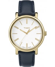 Timex Originals TW2P63400 Ladies Modern Blue Leather Strap Watch