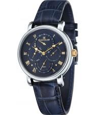 Thomas Earnshaw ES-8048-03 Mens Longcase Master Calendar Black Crock Leather Strap Watch