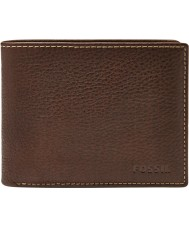 Fossil ML3657200 Mens Lincoln Brown Leather Passcase Wallet