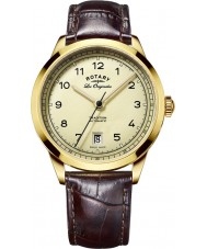 Rotary GS90185-03 Mens Les Originales Tradition Brown Leather Strap Watch