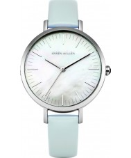 Karen Millen KM126U Ladies Light Blue Leather Strap Watch