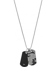 Emporio Armani EGS2292060 Mens Dog Tag Necklace