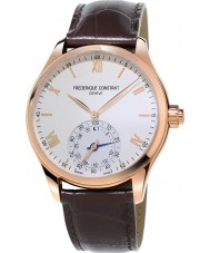 Frederique Constant FC-285V5B4 Mens Horological Smartwatch Brown Leather Strap Watch