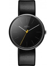 Braun BN0172BKBKG Mens Classic Slim Black Leather Strap Watch