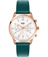 Henry London HL39-CS-0144 Ladies Stratford White Mallard Green Chronograph Watch