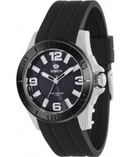 Marea 54042-1 Mens Fashion Black Silicone Strap Watch