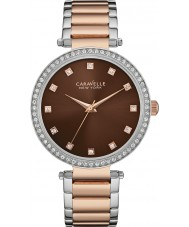 Caravelle New York 45L152 Ladies T-Bar Two Tone Steel Bracelet Watch