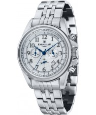Thomas Earnshaw ES-8028-11 Mens Commodore Silver Steel Chronograph Watch