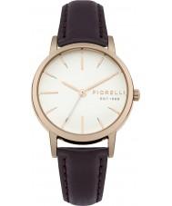Fiorelli FO027VRG Ladies Aubergine Leather Strap Watch
