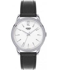 Henry London HL39-SS-0019 Ladies Edgware Black Leather Strap Watch