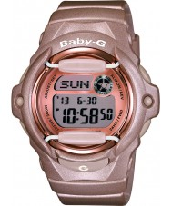 Casio BG-169G-4ER Ladies Baby-G Telememo World Time Pink Resin Strap Watch