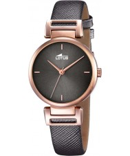 Lotus 18229-3 Ladies Trendy Rose Gold Plated Leather Strap Watch