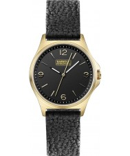 Barbour BB007BKBK Ladies Hebburn Black Leather Strap Watch