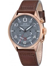AVI-8 AV-4031-05 Mens Hawker Harrier II Brown Leather Strap Chronograph Watch