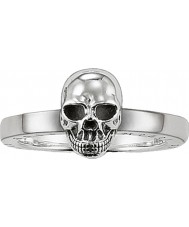 Thomas Sabo Ladies Rebel at Heart Silver Tone Ring