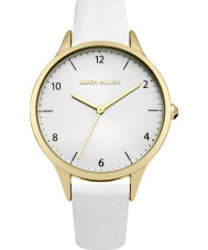 Karen Millen KM147WG Ladies White Leather Strap Watch