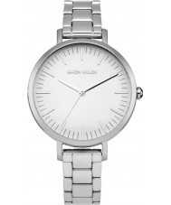 Karen Millen KM126SM Ladies Silver Steel Bracelet Watch