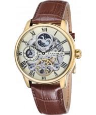 Thomas Earnshaw ES-8006-06 Mens Longitude Brown Croco Leather Strap Watch