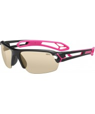 Cebe S-Track Medium Shiny Black Magenta Sunglasses