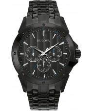 Bulova 98C121 Mens Dress Black IP Chronograph Watch