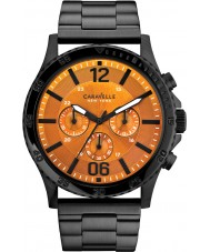 Caravelle New York 45A108 Mens Logan Black Steel Chronograph Watch