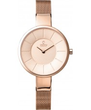 Obaku V149LXVVMV Ladies All Rose Gold Plated Mesh Bracelet Watch