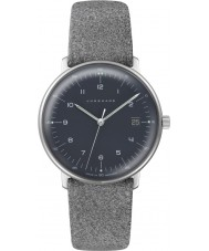 Junghans 047-4542-00 Ladies Max Bill Grey Leather Strap Watch