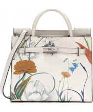 Fiorelli FH8660-PRINT Ladies Harlow White Botanical Print Mini Tote Bag