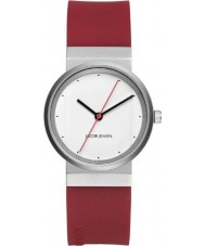 Jacob Jensen 761 Ladies New Series White Red Watch