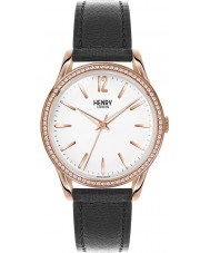 Henry London HL39-SS-0032 Ladies Richmond White Black Watch with Swarovski Elements