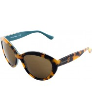 Dolce and Gabbana DG4239 56 Contemporary Top Havana on Petroleum 2891731 Sunglasses