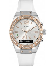 Guess Connect C0002M2 White Silicone Strap Smart Watch